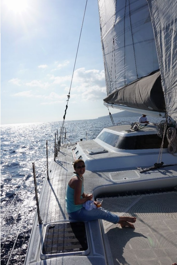 Flitterwochen-Maui-Segeln
