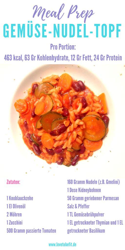 Meal-Prep-Gemüsenudeltopf
